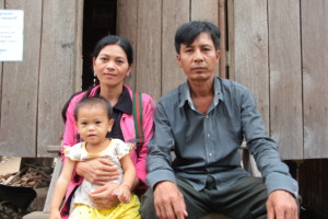 Pheap with her husband and her younger child