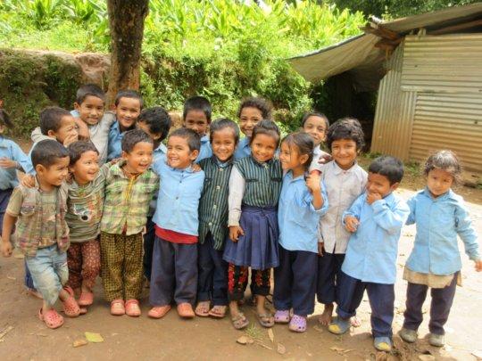 children in namdu village