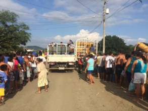 Fuel Relief Fund distribution in Manabi province