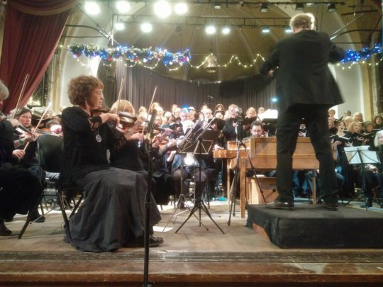 The orchestra in action