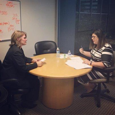 Volunteers Help with Mock Interviews