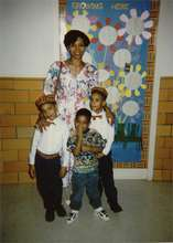 Wanda Coleman with 3 sons