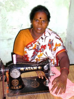 Support to start sewing business to 10 poor women