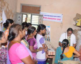 Breast cancer screening of women in slum