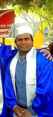 Upendra at his graduation