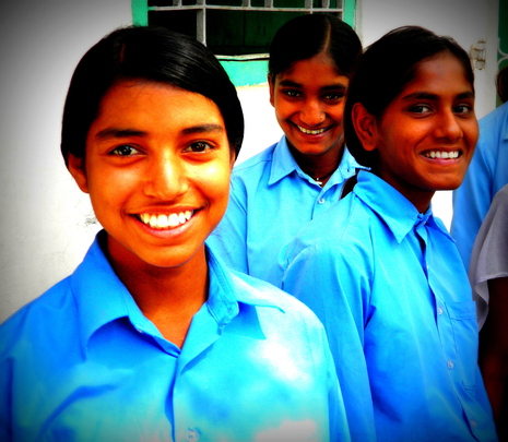Girls at Dhobi Village Community School
