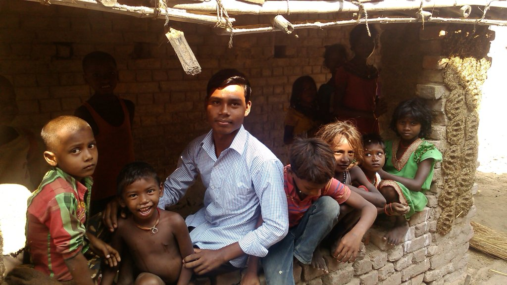 Pradeep in his village