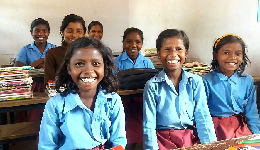 Girl Students at Dhobi School- super smiles!