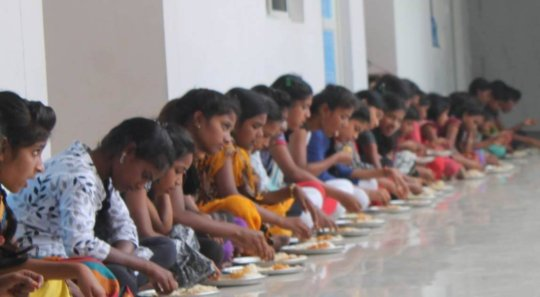 Well fed children are always happy
