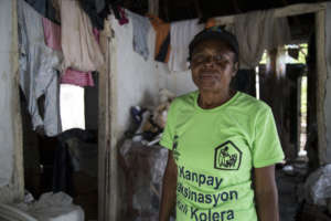 Marie helps prevent cholera in her community