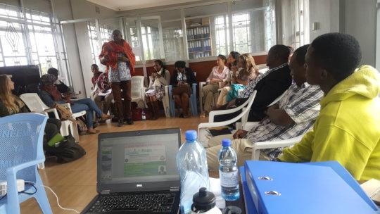 GlobalGiving Team Conducting Seminar in Arusha