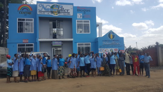 Employees at Nanofilter office in Arusha Tanzania