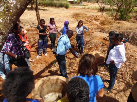USA Students Visiting Biogas Customers in Tanzania