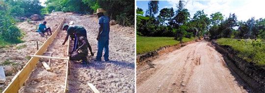 Road rehabilitation on La Gonave