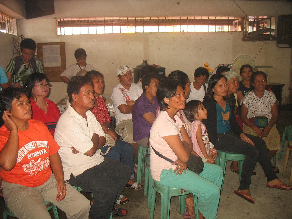 Financial training pep talk in Cagayan de Oro