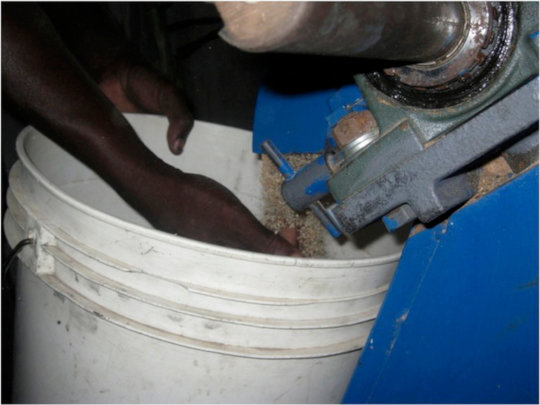 Grain mill in action