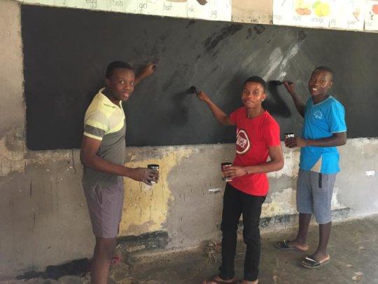 Blackboard painting