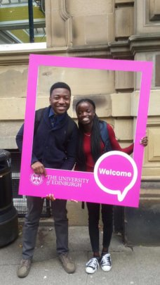 Charlegne and Prince  at Edinburgh University