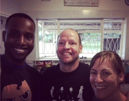 Ryan (leaver 2012) visiting graduates in May