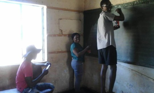 Blackboard painting