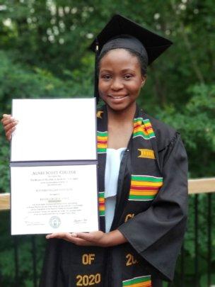 Ruvimbo graduating in the USA