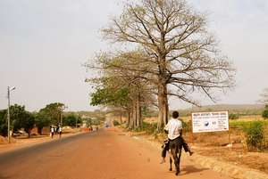 Main road leading to Tamale during the dry season