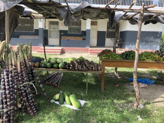 St. Paul's produce table