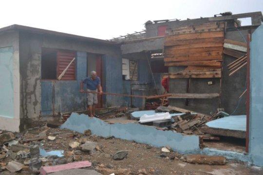 Destruction in Baracoa, Cuba