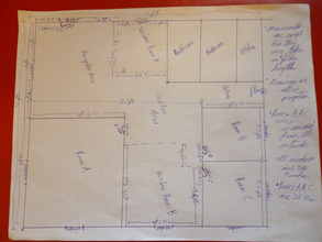 Clinic's layout with measurements
