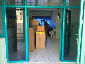 Six pallets delivered by Rotary Club of Ramallah