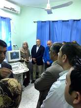 Dep. Minister of Health came to see & welcome us!
