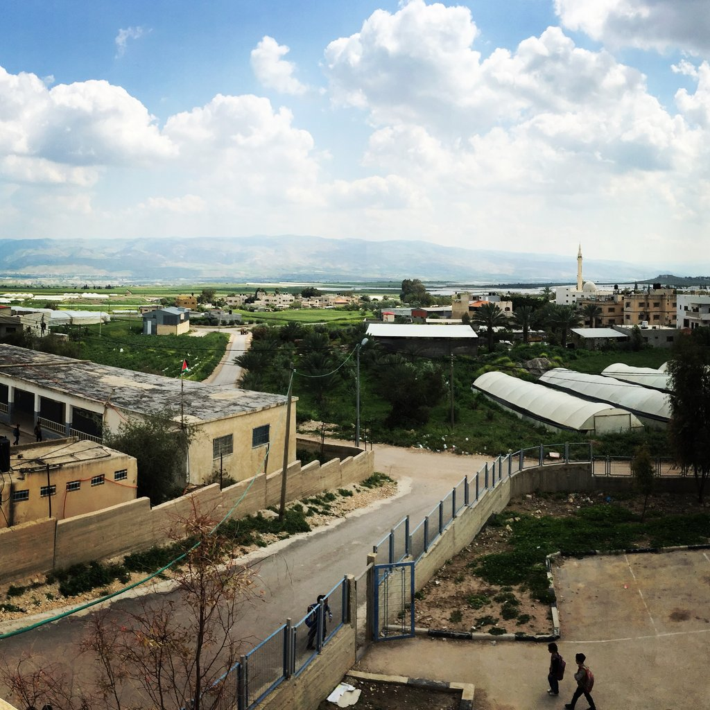 View of the Palestinian town of Ein Al Beida