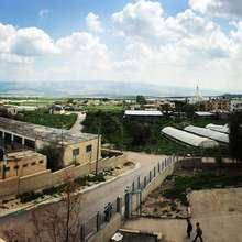 View of the Palestinian town of Ein Al Beida
