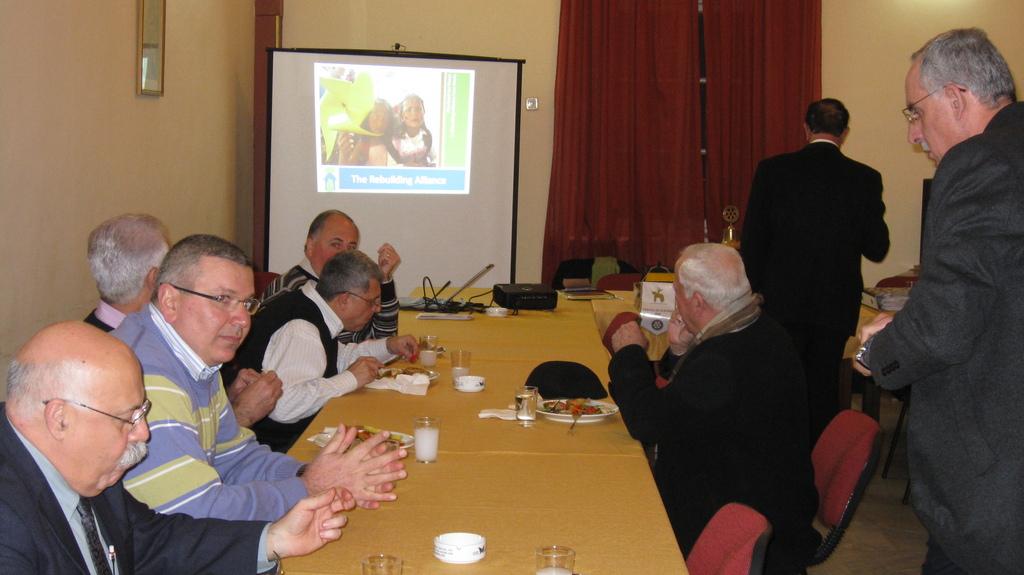 My presentation at the Rotary Club of Nazareth