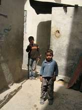 Boys playing in Gaza