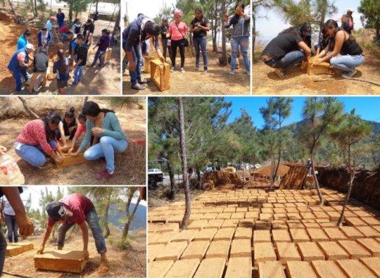 Hands-on workshop to make adobe bricks