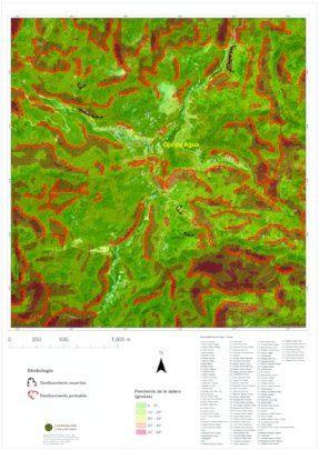 Ojo de Aguas  land slide risk map