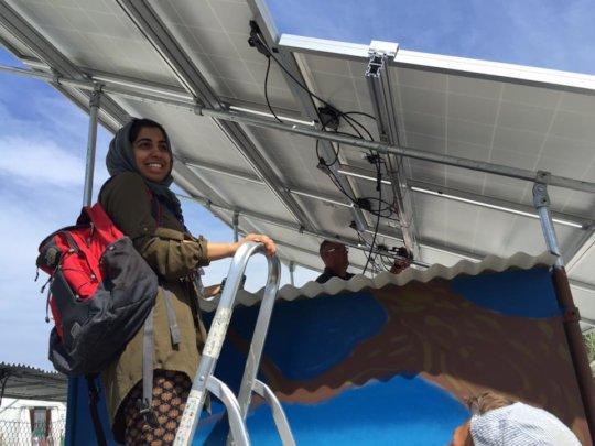 Give solar powered electricity to refugee families