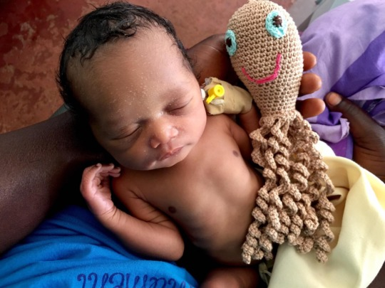 A few days old premature baby treated at Whisper