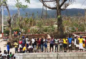 Fuel Relief Fund distribution, Jeremie, Haiti