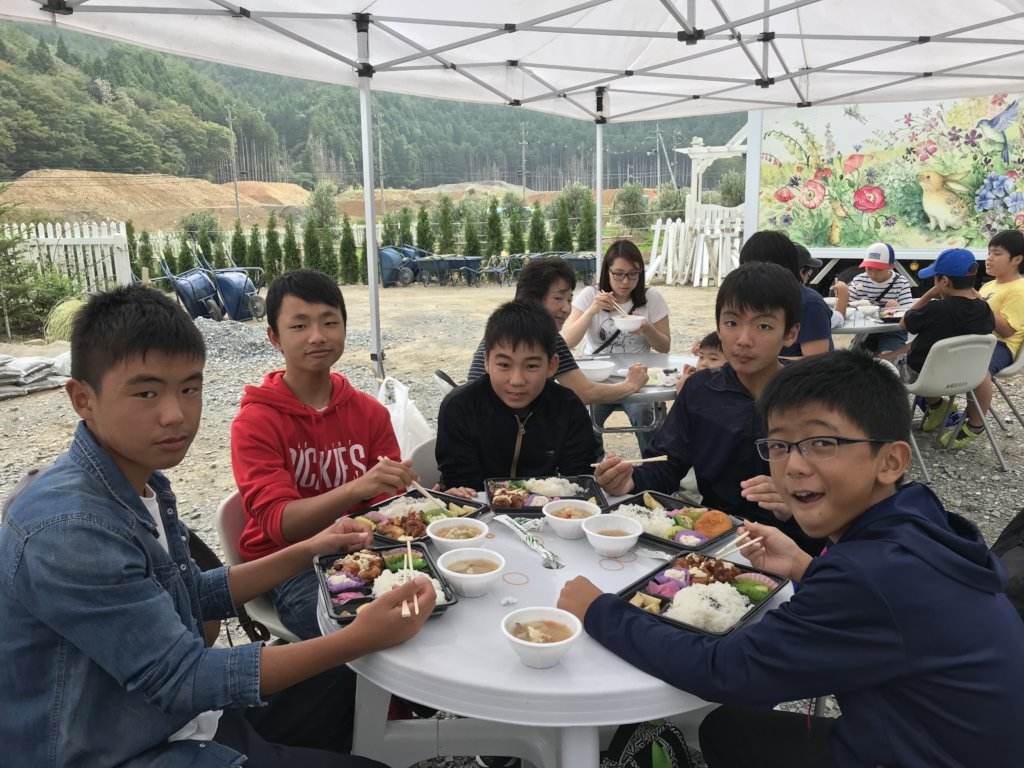lunch at local community garden