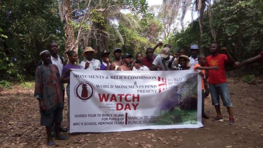 Youth visiting Bunce Island, Sierra Leone