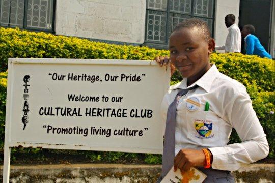 Harriet, a Heritage Club member in Uganda