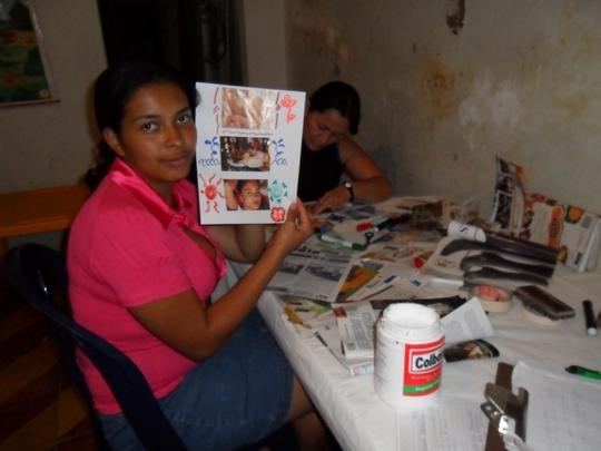 Woman at self image workshop