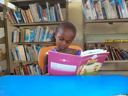 Junior reader - Dzitsoni Public Library, Kenya.