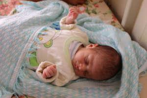 Amnah sleeps peacefully