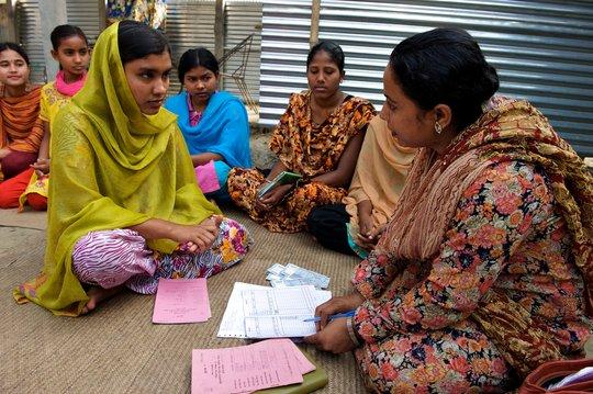 ELA members at a microfinance group meeting.