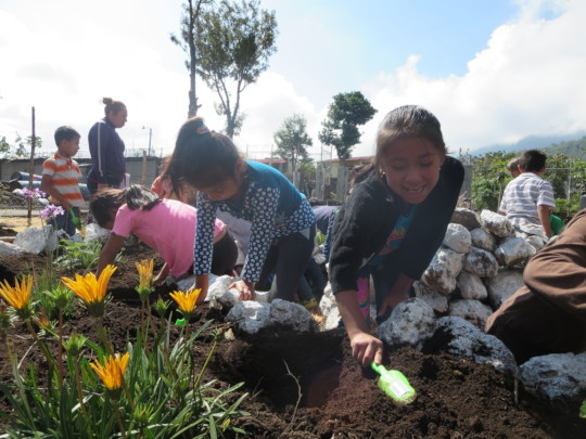 Child size garden tools make planting easy