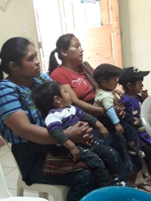 Families visiting Health Centre