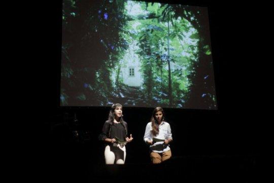 Bianca and Palmira present at Gramo Paraguay talks